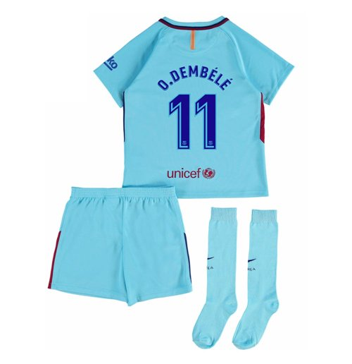2017-2018 Barcelona Away Baby Kit (O Dembele 11)