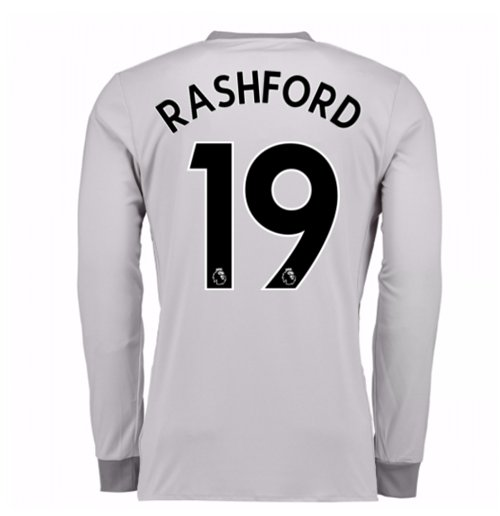 2017-2018 Man United Long Sleeve Third Shirt (Rashford 19) - Kids