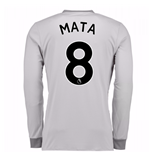 2017-2018 Man United Long Sleeve Third Shirt (Mata 8)