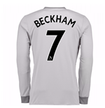 2017-2018 Man United Long Sleeve Third Shirt (Beckham 7)