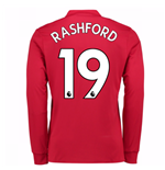 2017-2018 Man United Long Sleeve Home Shirt (Rashford 19)