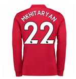 2017-2018 Man United Long Sleeve Home Shirt (Mkhitaryan 22)