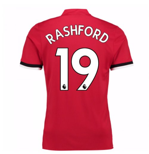 2017-2018 Man United Home Shirt (Rashford 19)