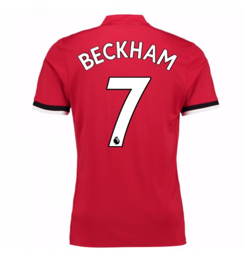 2017-2018 Man United Home Shirt (Beckham 7) - Kids