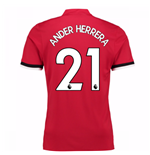 2017-2018 Man United Home Shirt (Ander Herrera 21)