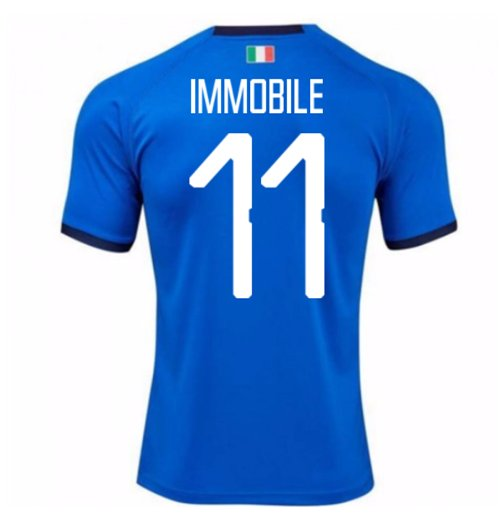 2018-19 Italy Home Shirt (Immobile 11) - Kids