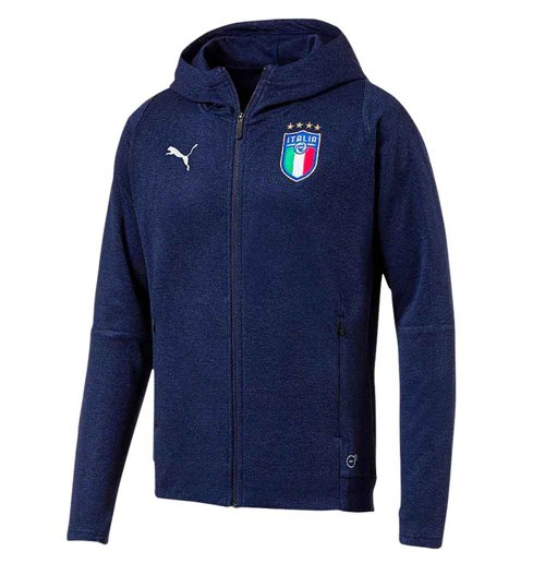 2018-2019 Italy Puma Casual Performance Zip Through Hoody (Navy)