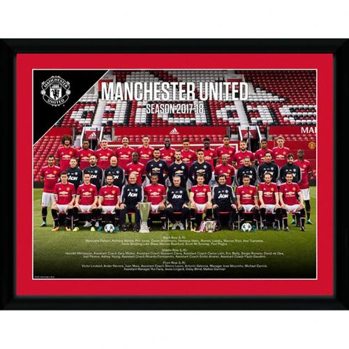 Manchester United F.C. Picture Squad 16 x 12 17/18