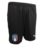 2018-2019 Italy Puma Home Goalkeeper Shorts (Black)