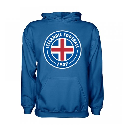 Iceland Core Logo Hoody (Blue) - Kids