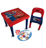 DISNEY Cars Activity Table with 35 Piece Accessory Pack