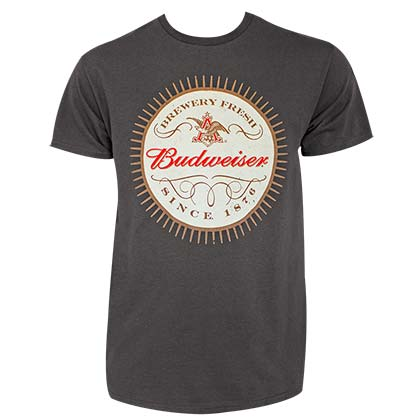 BUDWEISER Since 1876 Grey Tee Shirt