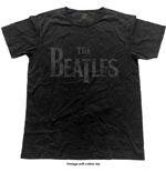 The Beatles Men's Fashion Tee: Logo (Vintage Finish)