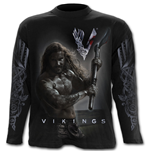 Rollo Axe - Keep Calm - Vikings Longsleeve Black