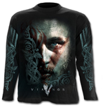 Ragnar Face - Vikings Longsleeve Black