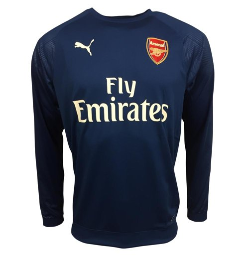 2017-2018 Arsenal Puma Training Sweat Top (Limoges)