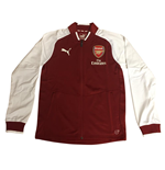2017-2018 Arsenal Puma Stadium Jacket (Red Dahlia) - Kids