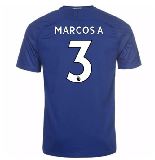 2017-18 Chelsea Home Shirt (Marcos A 3)
