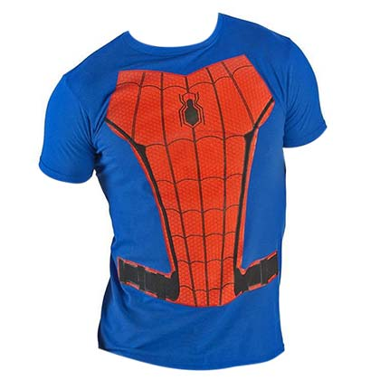 SPIDERMAN Suit Up Charcoal Costume Tee Shirt