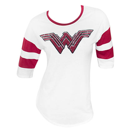 WONDER WOMAN Strength Love Grace Raglan Sleeve Tee Shirt