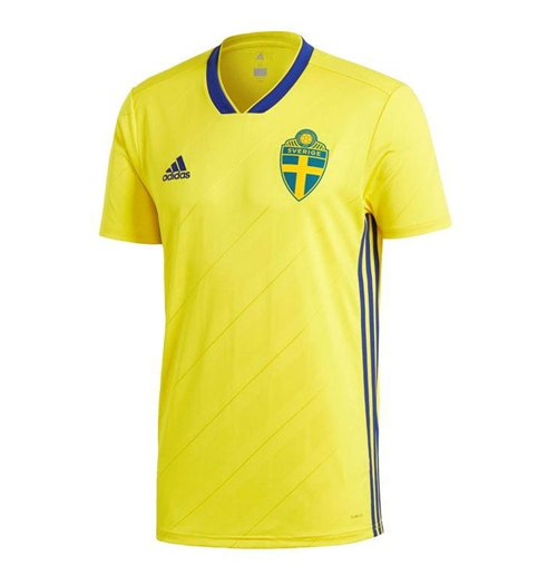 2018-2019 Sweden Home Adidas Football Shirt