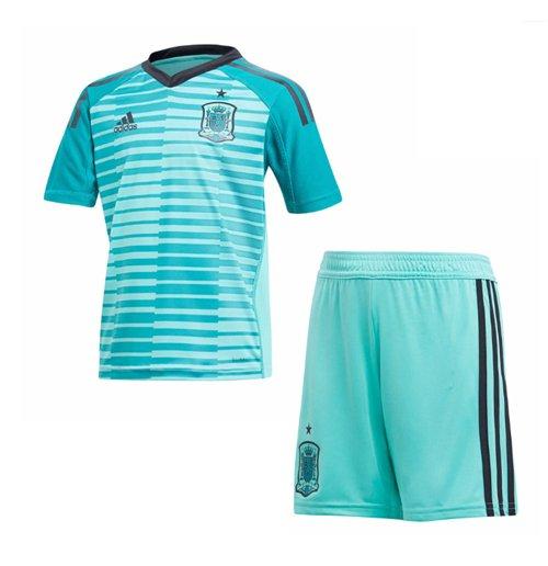 2018-2019 Spain Home Goalkeeper Adidas Youth Kit