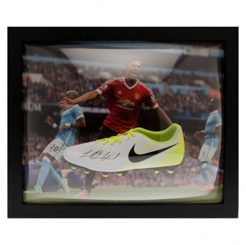 Manchester United F.C. Rashford Signed Boot (Framed)