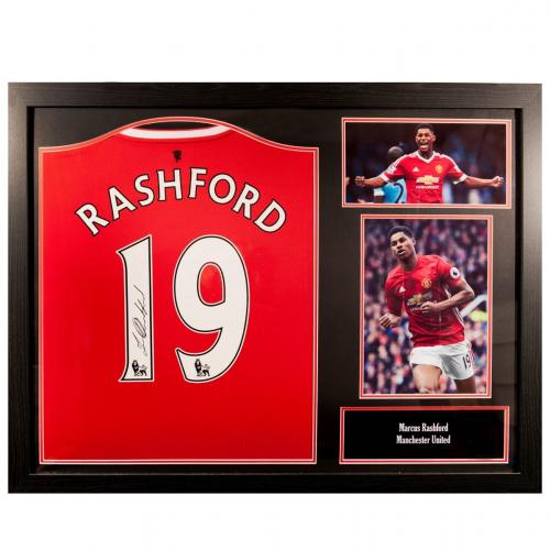 Manchester United F.C. Rashford Signed Shirt (Framed)
