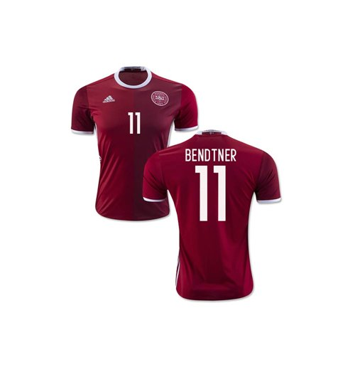 2016-2017 Denmark Home Shirt (Bendtner 11) - Kids