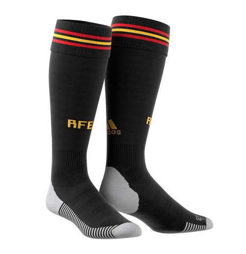 2018-2019 Spain Home Adidas Football Socks (Black)