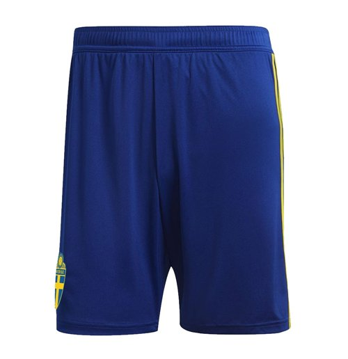 2018-2019 Sweden Home Adidas Football Shorts (Kids)