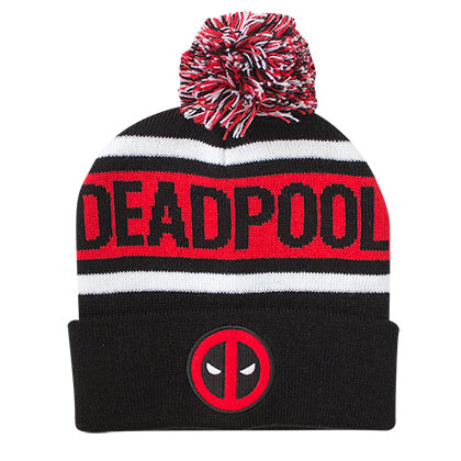 DEADPOOL Winter Cuff Pom Beanie