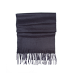 Free Authority - Solid Black Scarf W/ Fringe