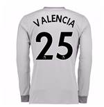 2017-2018 Man United Long Sleeve Third Shirt (Valencia 25)