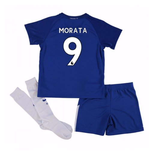 2017-18 Chelsea Home Mini Kit (Morata 9)