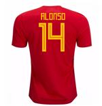 2018-19 Spain Home Shirt (Alonso 14)