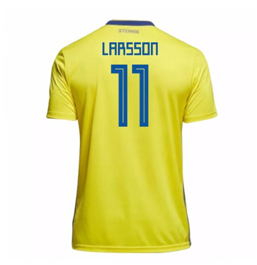 2018-19 Sweden Home Shirt (Larsson 11)