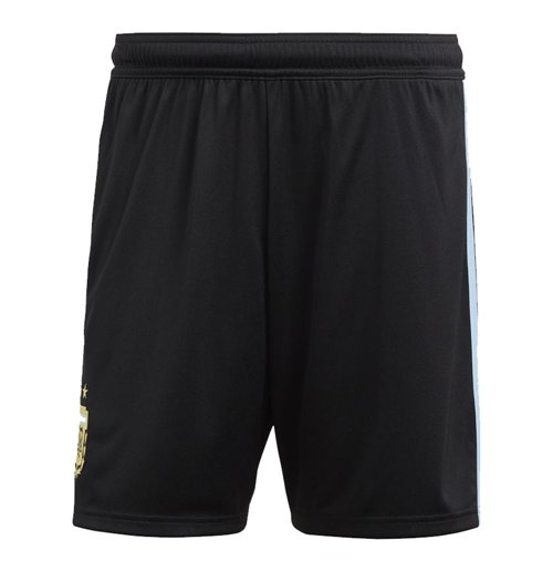 2018-2019 Argentina Home Adidas Football Shorts (Black)