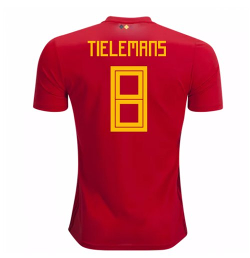2018-2019 Belgium Adidas Home Shirt (Tielemans 8) - Kids