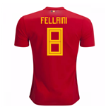 2018-2019 Belgium Adidas Home Shirt (Fellaini 8)