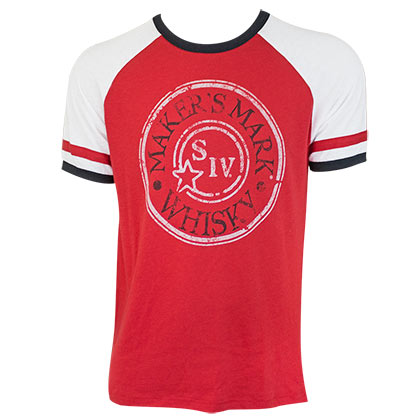 MAKER'S MARK Stamp Logo Red Men's Jersey Tee Shirt