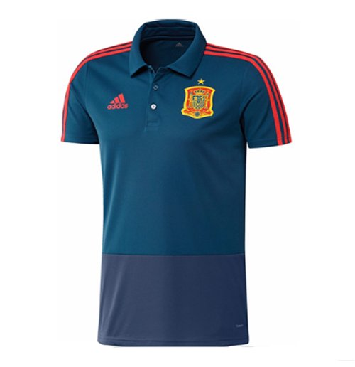 2018-2019 Spain Adidas Training Polo Shirt (Blue)