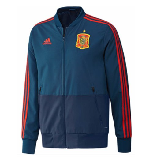 2018-2019 Spain Adidas Presentation Jacket (Blue)
