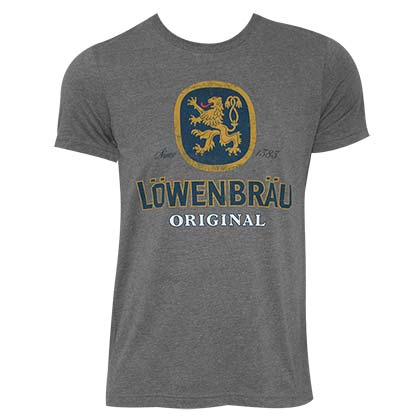 LOWENBRAU Logo Grey Tee Shirt