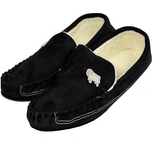 Derby County F.C. Mens Moccasins 9/10 BLK
