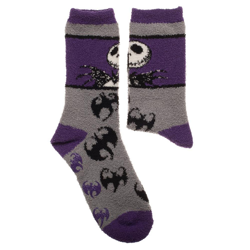 nightmare before christmas womens fuzzy socks