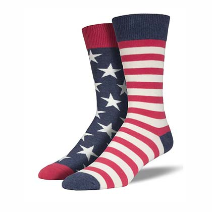 American Flag Vintage Color Men's Socks