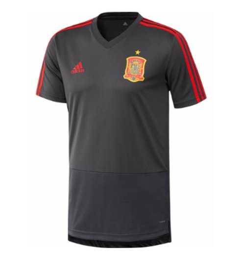 2018-2019 Spain Adidas Training Jersey (Solid Grey)