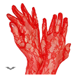 Gloves Lace long red