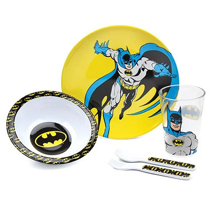 BATMAN Melamine Mealtime 5 Piece Set